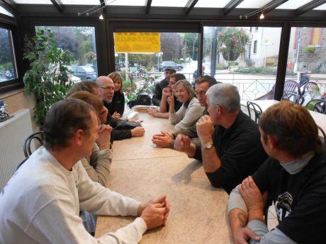 01- Petit déjeuné à St Denis sur Coise