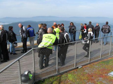 Pause au belvère du Col de Chambotte