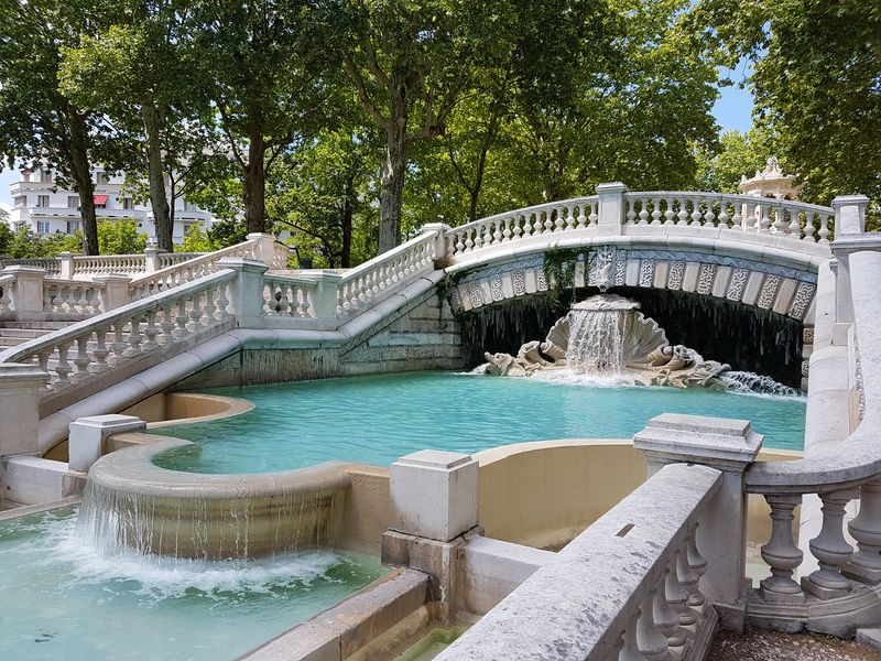 la fontaine du jardin Darcy