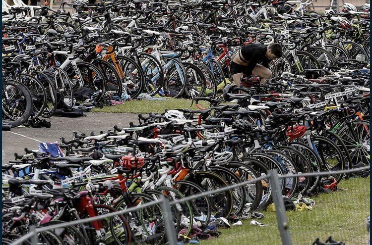 en piste pour le circuit vélo
