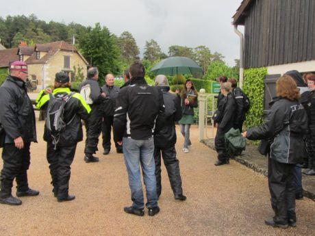 En visite dans les jardins du manoir d'Erignac